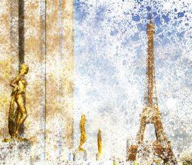 City Art, Paris Eiffel Tower and Trocadero