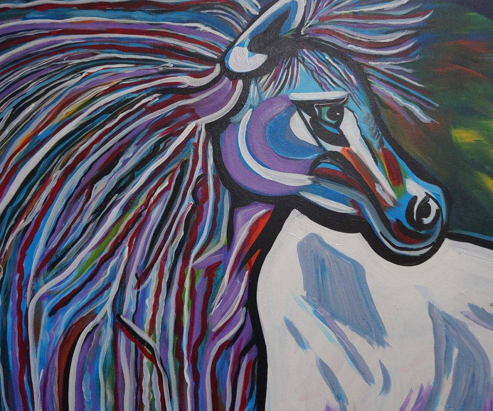 Mr. Midnight Blue Horse