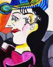 Picasso by Nora, Man With Blue Hat