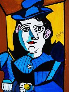 Picasso by Nora, Man with Ball