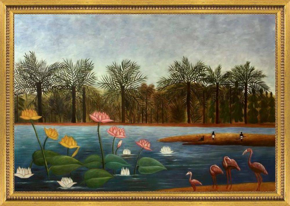 The Flamingoes Pre-Framed