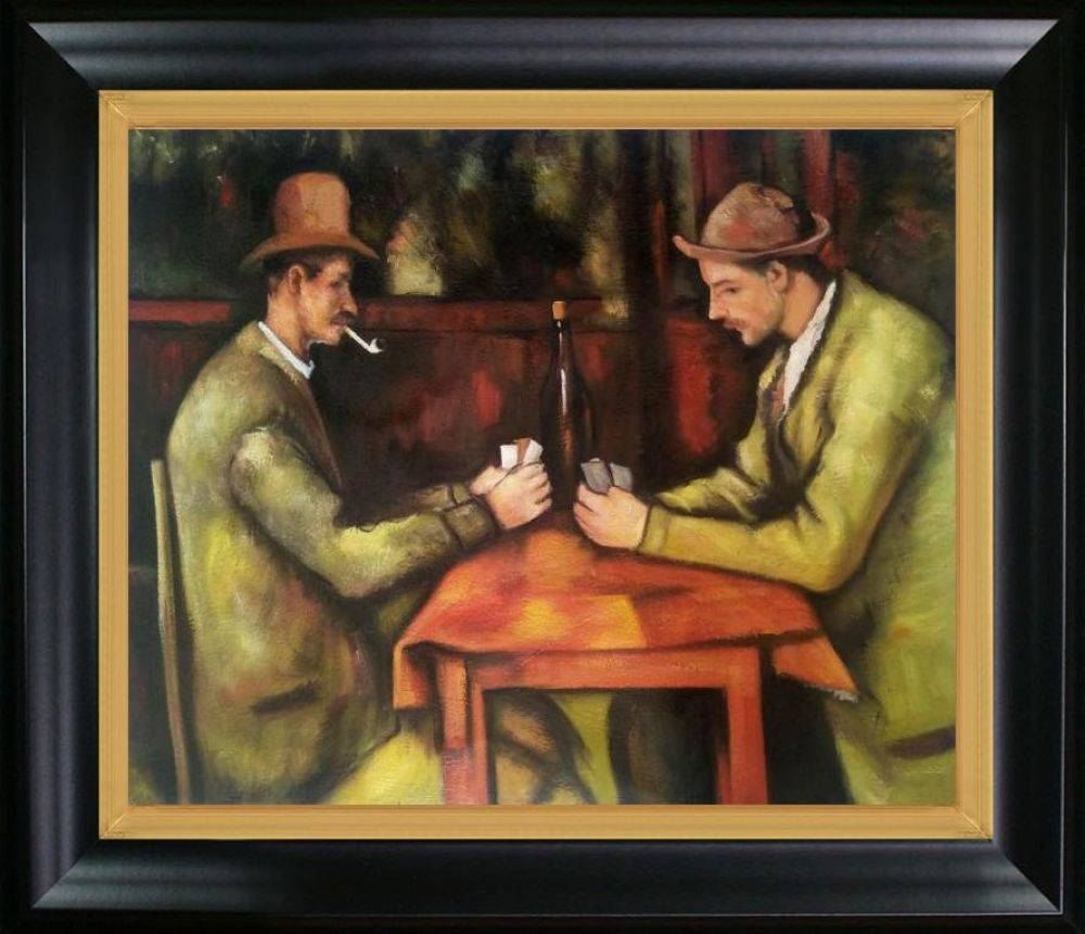 Card Players with Pipes Pre-Framed