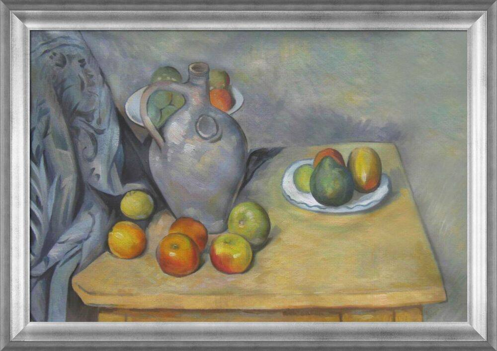 Pitchet Et Fruits Sur Une Table Pre Framed