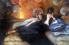 Lady with Fans, Portrait of Nina de Callais