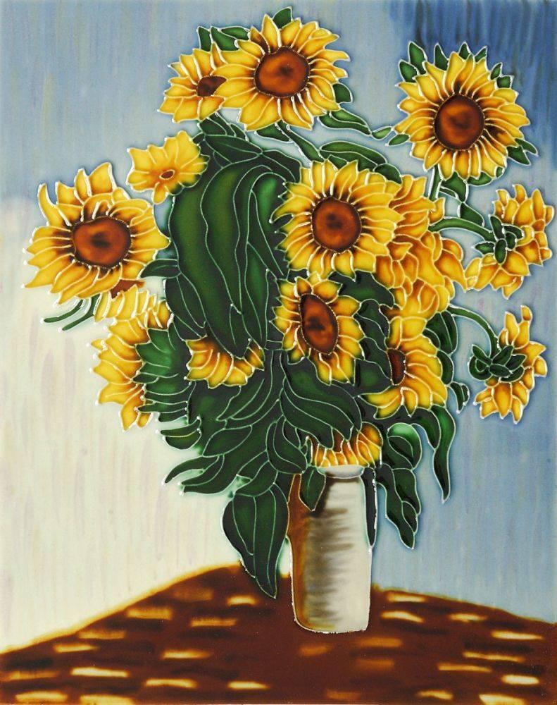 Sunflowers Trivet/Wall Accent Tile (felt back)