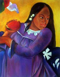 Woman with a Mango