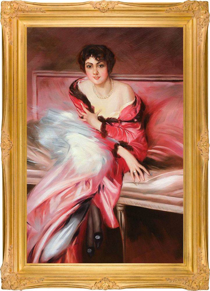 Portrait Of Madame Juillard In Red Pre-Framed