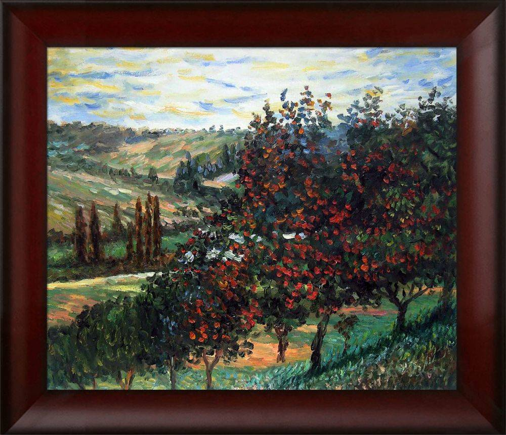 Apple Trees in Bloom at Vetheuil 1887 Pre-Framed