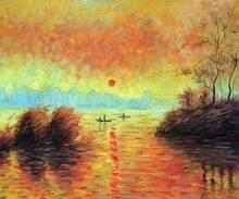Le Coucher Du Soleil La Seine