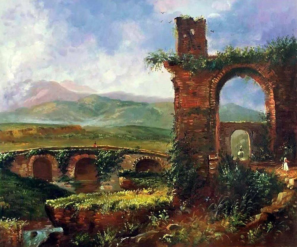 A View Near Tivoli (Morning), 1832