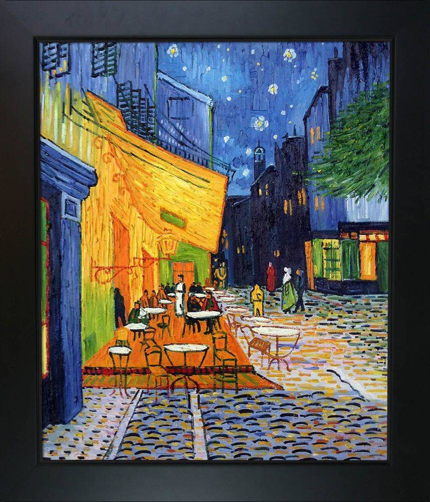 Cafe Terrace at Night Pre-Framed